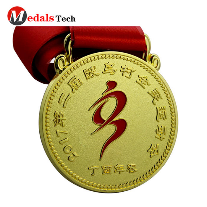 Factory price `3d logo metal running old sport medals