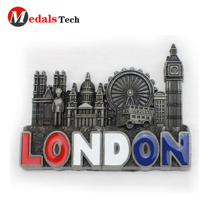 Most popular antique London morocco souvenir shopping USA metal refrigerator magnet for traveller