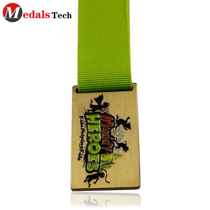 Antique silver custom cheap metal running medal for virtual run