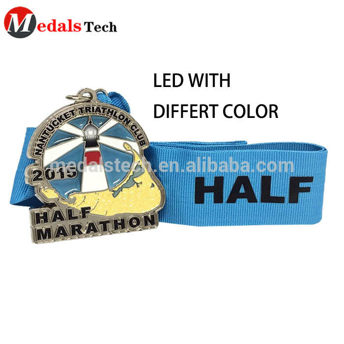 Custom Flashlight Led medals