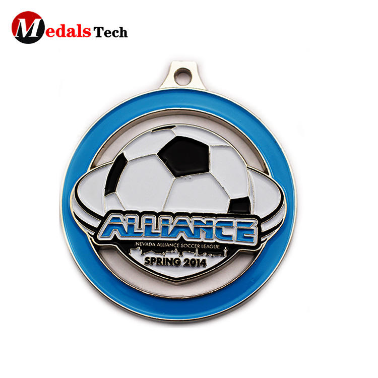 Amazon Hot Sell free artwork die casting football envent sports race russia 3d metal custom soccer medal
