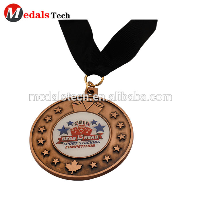 Zhongshan Factory medal supplier custom 3d die casting 5K challenge run sports victory Torch medals