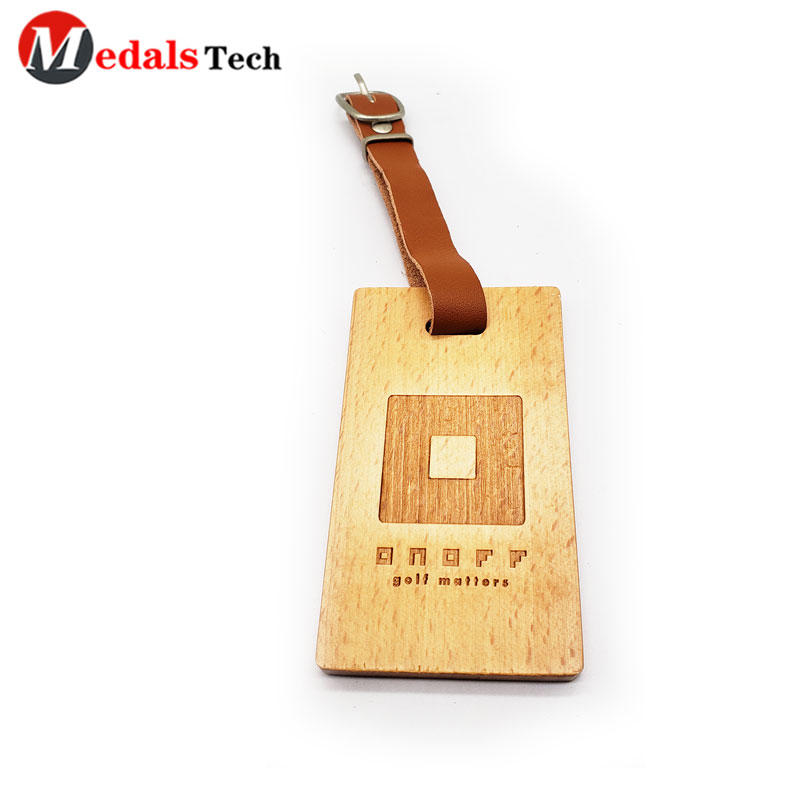 2021 Rectangle 5k 10k 20k 50mile Club VIP Name Laser Wood Matt Metal Sports Race running Wooden Medal with Leather