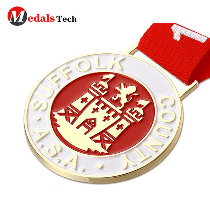Dongguan Medal supplier country USA Suffolk sports finishermarathon custom 3d metal medal