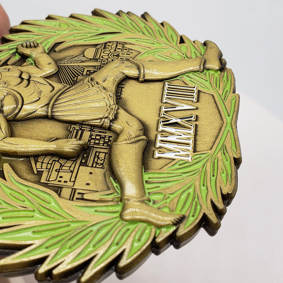 Cheap antique bronze silver metal award marathon finisher sport medal