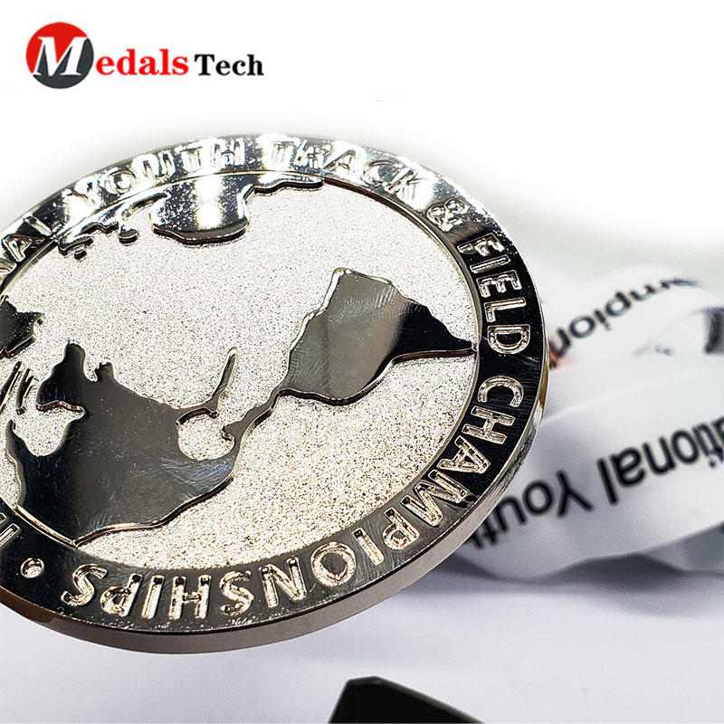 Fast Production 3D Cheap Design Medallones Custom Sports Virtual Running Medal with Ribbon