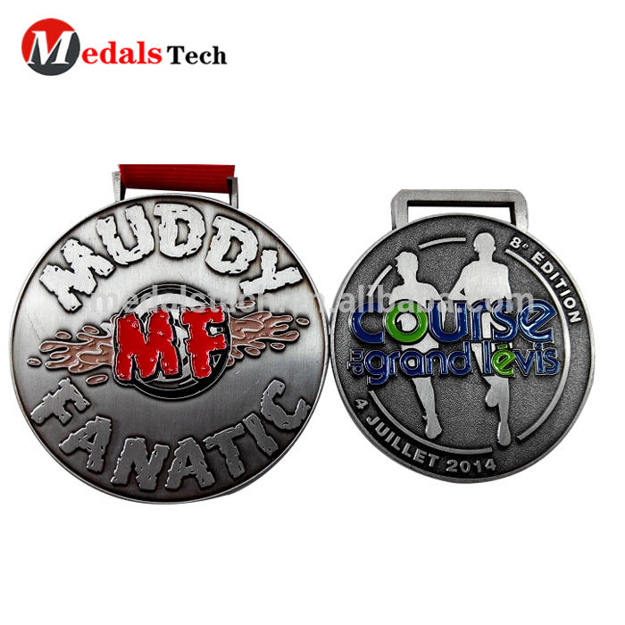 Guangdong custom Athens various size 3d embossed never give up runner competition use custom sports bronze award medal metal