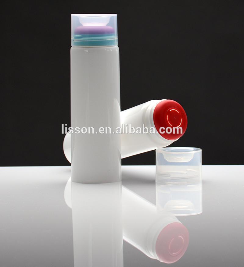 rubber head plastic tube for antiperspirant packaging
