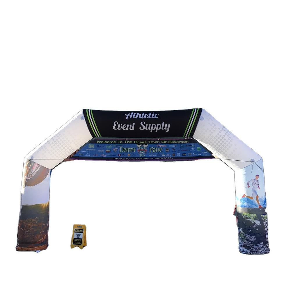 7.9X4.7X1.2 m Custom Printed Event Promotion Racing Start and Finish Inflatable Archway