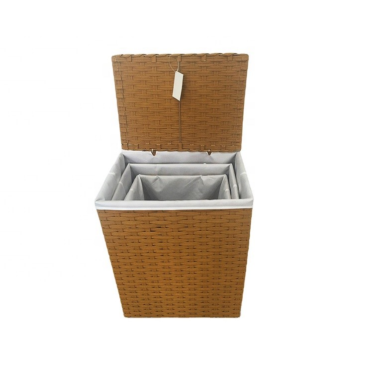 wholesale customized plastic tube with fabric foldable laundry basket