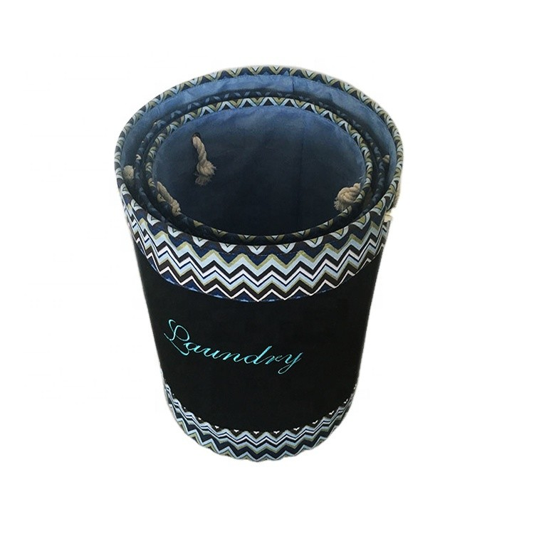 Wholesale Customized Jute Canvas Woven Fabric Laundry Basket