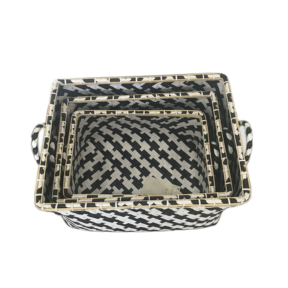 Customized Handmade Nice Cheap Packing Belt Bamboo Laundry Basket