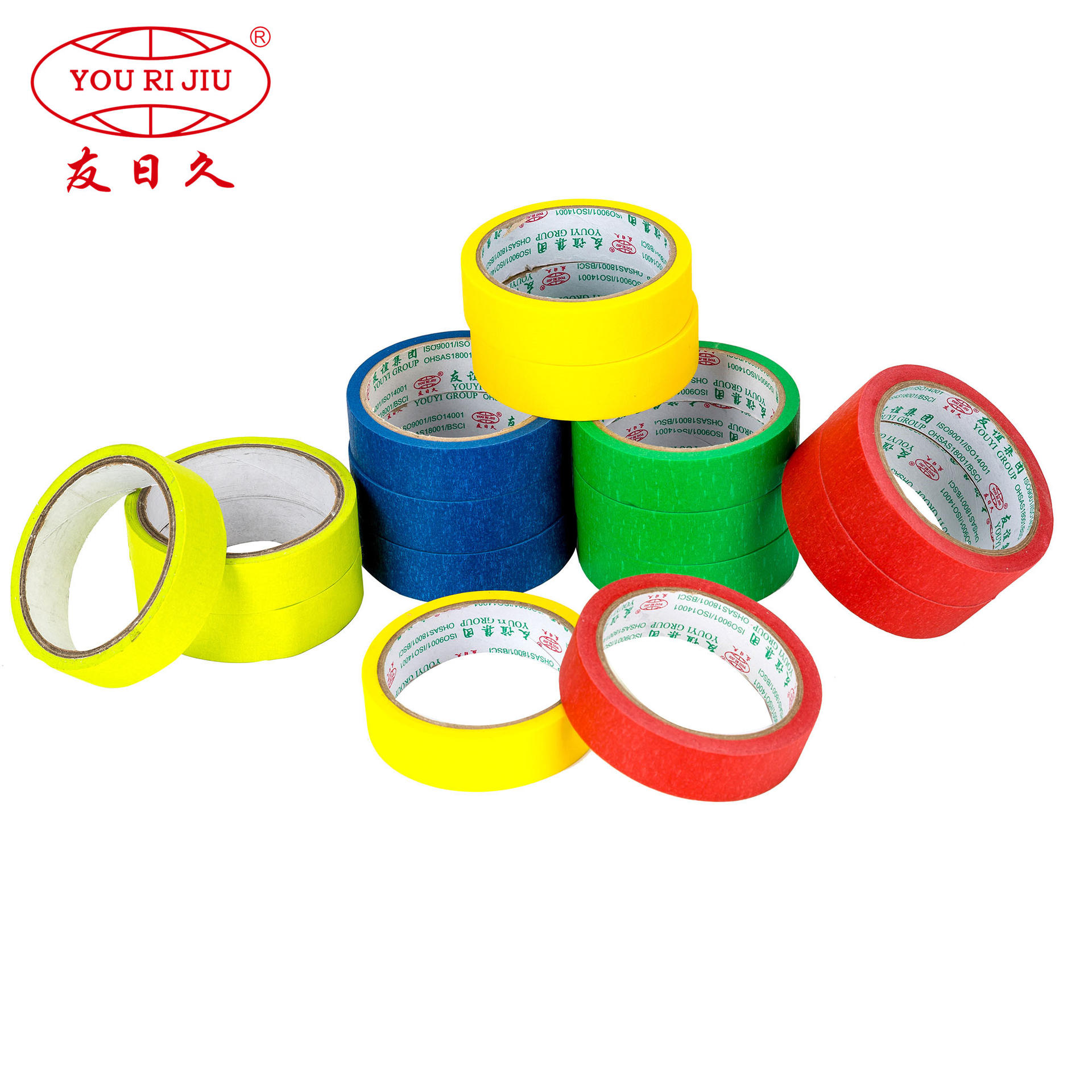 Green Masking Tape 60 degree general purpose jumbo roll finish roll
