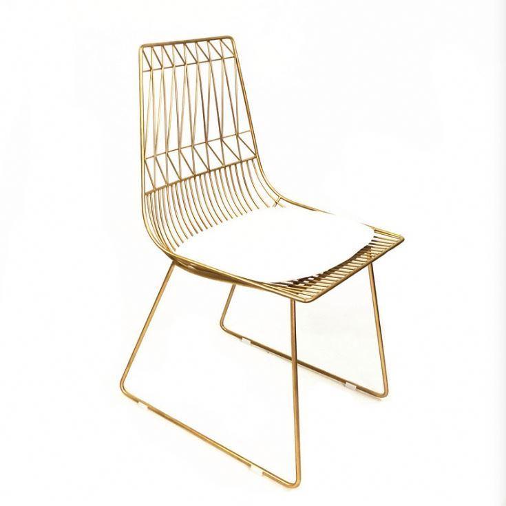 modern wire iron chair