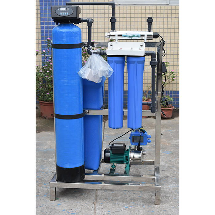 Automatic water treatment hard water softener plant