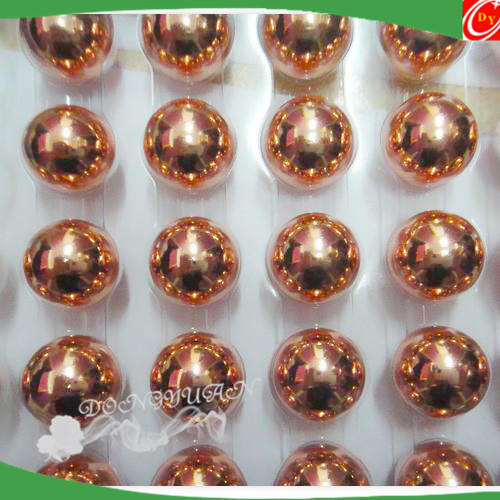 polished copper ball with hole, high quality copper hollow ball 100mm
