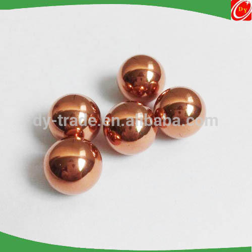 Small Divergence Pure Red Copper Spheres Balls for Bearing Decoration