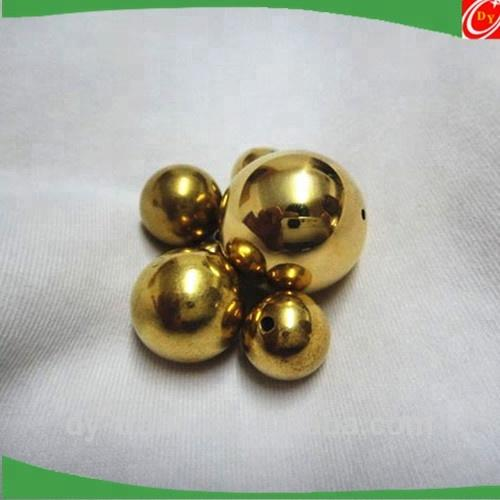Hollow Drilled Hole Brass Ball for shoes /Glod metal ball for jewelry