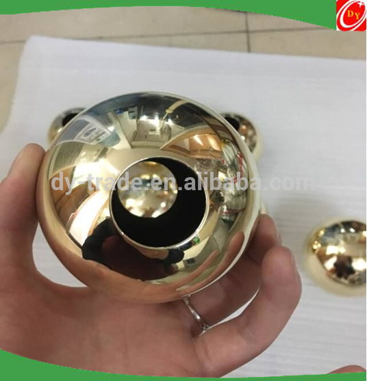 high quality brass hollow sphere with through hole ,used for lamp shade