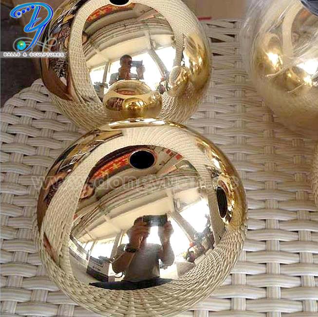 30mmHollow Brass Ball,Polished Brass Hemisphere for Art Jewelry