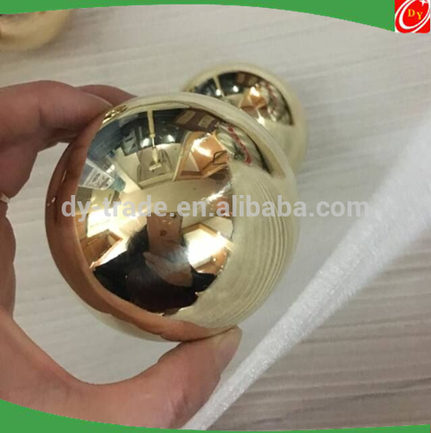 3 Inches Brass Sphere Hollow Copper Ball With Shiny Finish