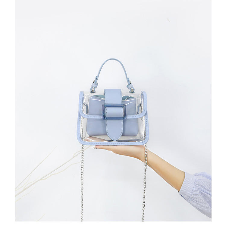 2020 New Transparent Bag Clear Bag Jelly Bag Handbag Cross-body Bags For Women Ladies Purse High Quality Designer Chain Bags ins