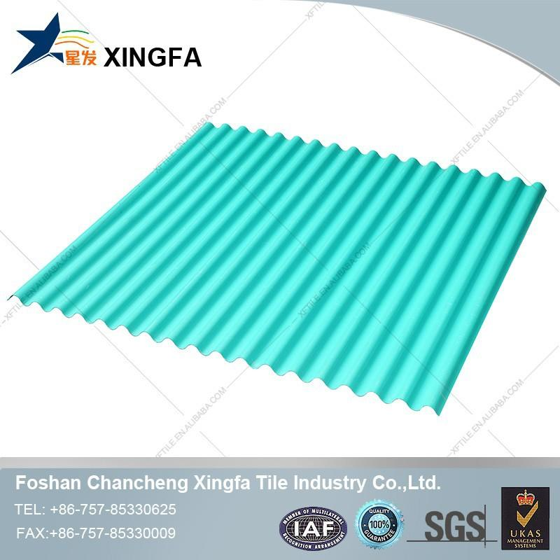 Construction building materials transparent clear corrugated plastic roofing tile for greenhouse