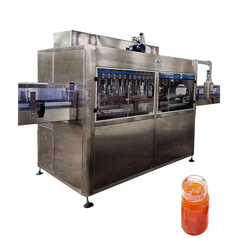 Automatic 100-2000BPH filling capping water honey jar bottle liquid jam filling machine