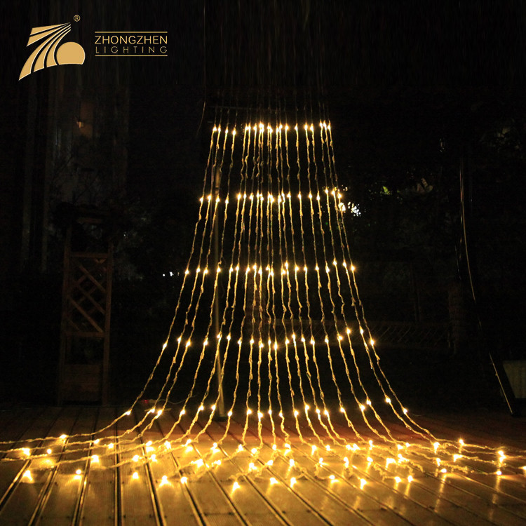 Low Power Consumption IP44 Waterproof Decoration LED Waterfall Fairy Lights