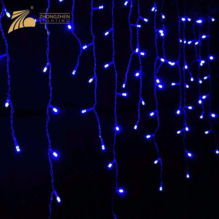 Low Power Consumption IP65 Waterproof LED Icicle Custom Made Decoration Christmas Light