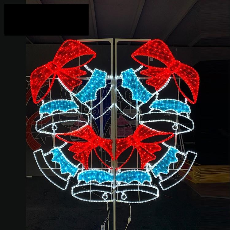 Customizable Outdoor Street Pole Christmas 2D Motif LED Light For Decoration