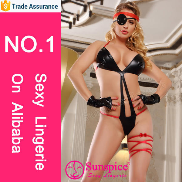 Wholesale sexy mature woman girls pirate costume sexy lingerie