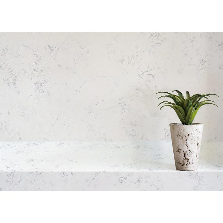 Arctic white prefab quartz countertops