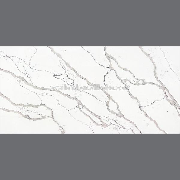 Glacier white mirror quartz countertop