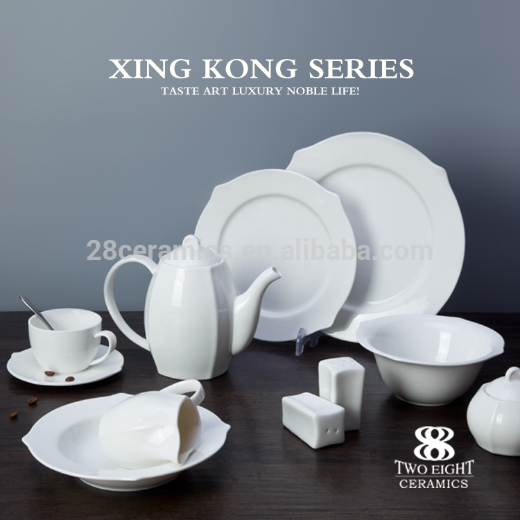 Chaozhou factory modern designed porcelain 200ml small cup chinese tea set
