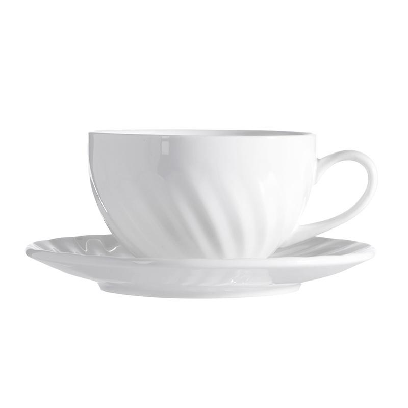 High Quality Ceramic Coffee Cup and Teapot, Elegant White Hotel Restaurant Porcelain Coffee Set, Ceramic China Tea Set