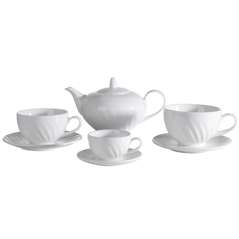 High Quality Luxury Fine China Dinner Set, Ceramic Tableware Set,White Ceramic China Tea Set