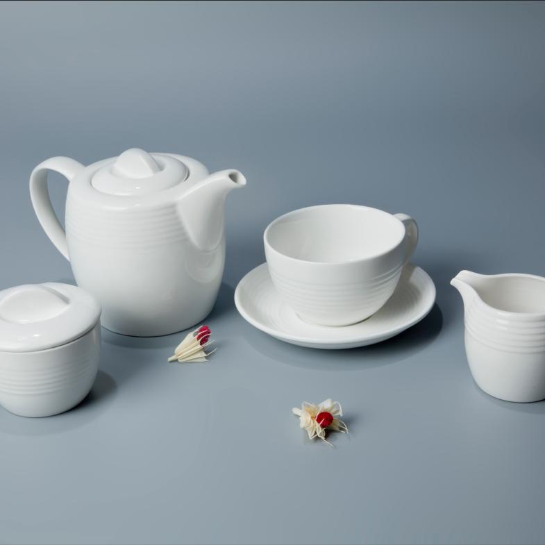 100% food grade promotional Logo Silk Screen Printing ceramic coffee set