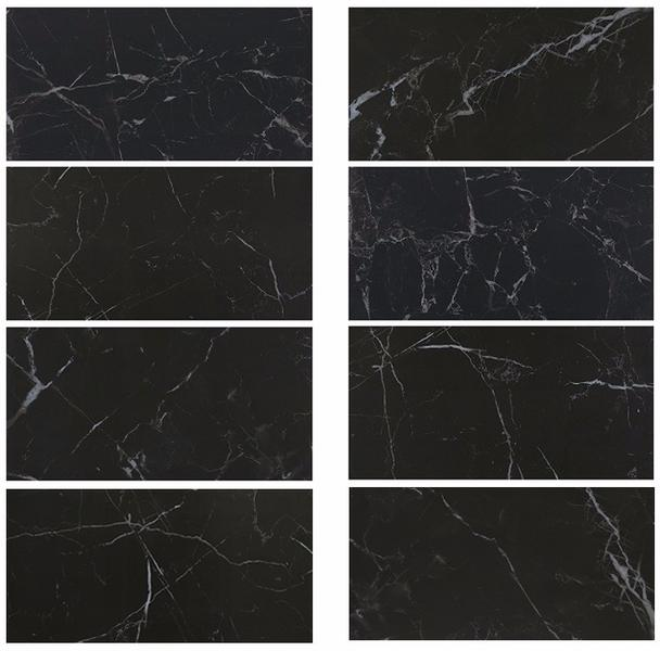 Night Elf Nero Margiua Mable Black and white Ceramics walls Tile Kitchen Bathroom Floor Porcelain Dark Rustic 24x48 Tiles