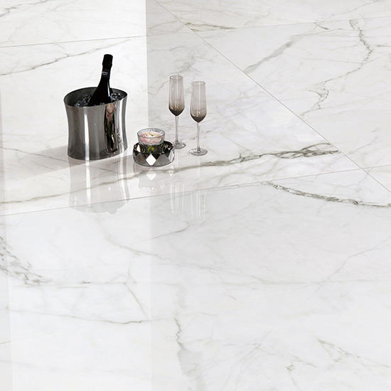 Statuario Plus White and Grey Vain Marble Floor Tile Glazed Matte Polished Big Size Bathroom Porcelain Tiles