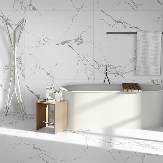 Statuario Venato Polished Porcelain Glazed Marble Tiles White Ceramic Floor tile Porcelain 24x48 ceramic tiles