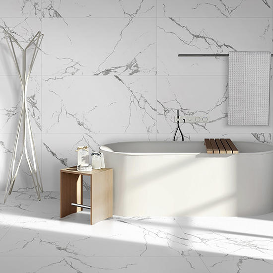 Statuario Venato Polished Porcelain Glazed Marble Tiles White Ceramic Floor tile Porcelain 24x48 ceramic tiles