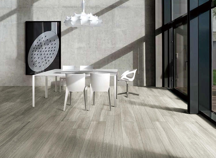 Oak Wood Structure Porcelain Glazed Matte Ceramics Living Room American Life proof Interior Home Wooden Flooring Tiles