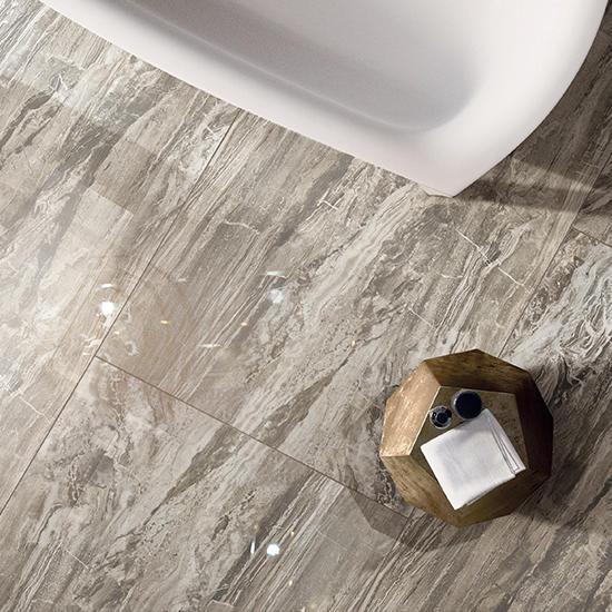 Venice Grey Marble Porcelain Floor Tiles Glazed Polished Matte Printed Canvas Lanka Ceramic Price Custom Logo Bathroom Tiles