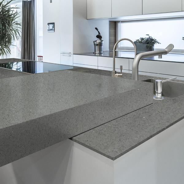 LSJ-Acrylic Solid Surface Artificial Stone Panel Stone Wall Terrazzo Cement Concrete Countertop Sheet Machine Fusion Quartz Slab