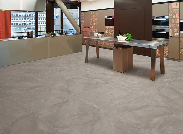 Silk Glazed Cement look Concert Walls and Floor Tiles Porcelain Matte Dark Structure Big Size Mcm Leather Carpet Ceramic Tiles