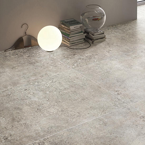 Terrazzo Foshan Bathroom Floor Porcelain Tiles Glazed R10 Grey Ceramic Livingroom tiles