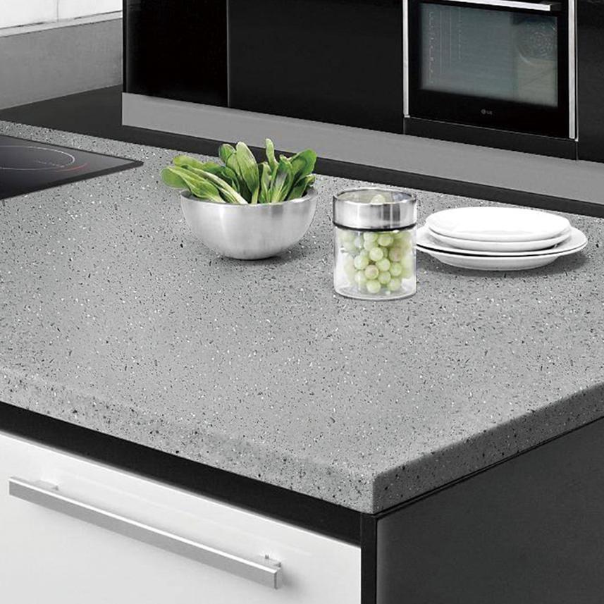SQ- Solid Surface Jumbo Size Quartz Stone Slabs Polished Engineered Stone Machine Artificial Quartz Stone Slab Plant Table Top