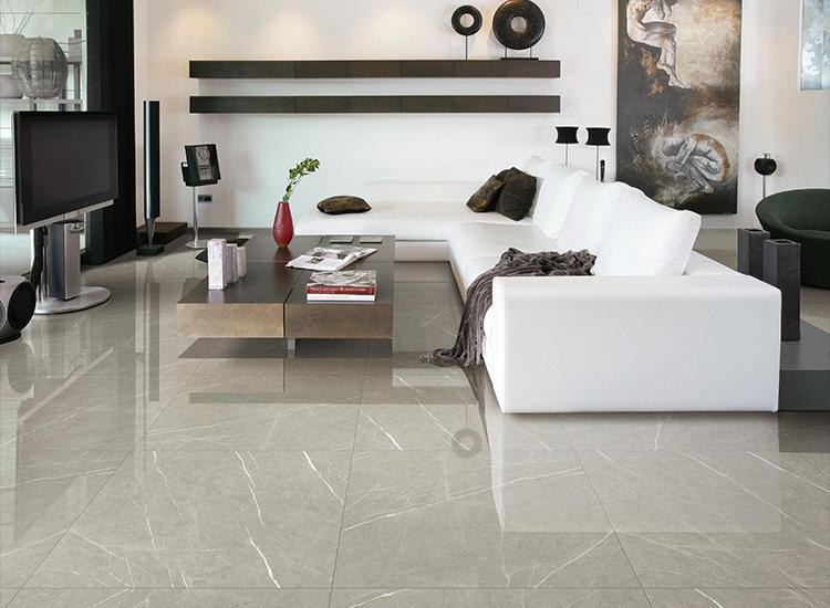 Pietra Grey Glazed Grey Marble Ceramic Floor Tile Polish Matte Large Size Kitchen Bathroom porcelain Design and washroom tiles