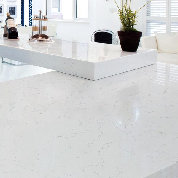 SE-Carrara White Marble Quartz Stone Slab Bathroom Kitchen Vanity Countertop Quarts Acrylic solid surface sheet Artificial Stone